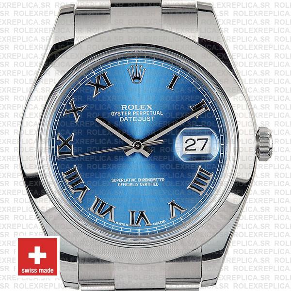 Rolex Datejust II Blue Dial Steel 41mm 116300 | Replica Watch