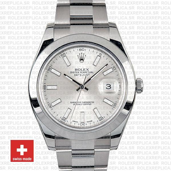 Rolex Datejust II Silver Dial 41mm | Rolex Replica Watch