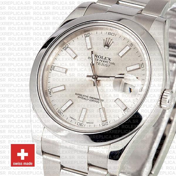 Rolex Datejust II Silver Dial 41mm Rolex Replica Watch
