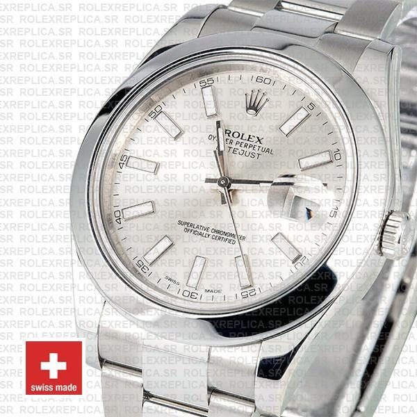 Rolex Datejust II Silver Dial 41mm Replica Watch