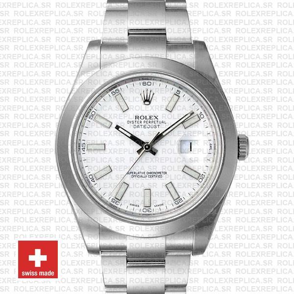 Rolex Datejust II White Dial 41mm 904L Steel | Replica Watch