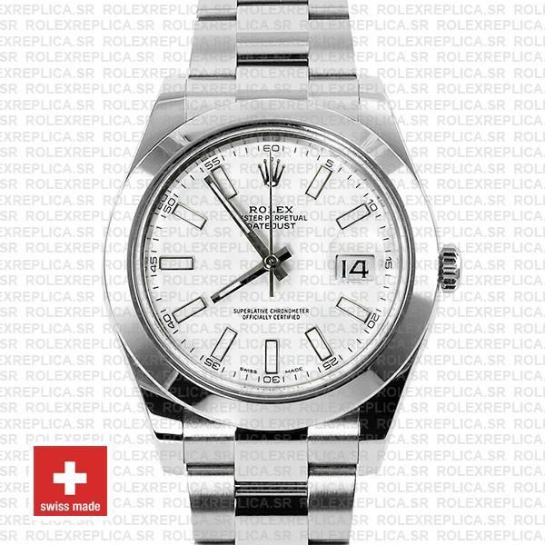 Rolex Datejust II White Dial 41mm 904L Steel Replica Watch