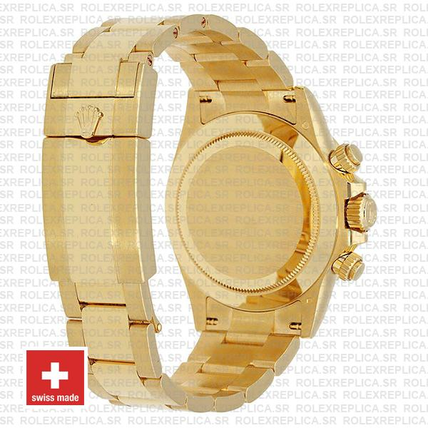 Rolex Cosmograph Daytona Real 18k Yellow Gold Wrapped 904l Steel Black Diamond Dial 40mm Ref:116508 Swiss Replica Watch