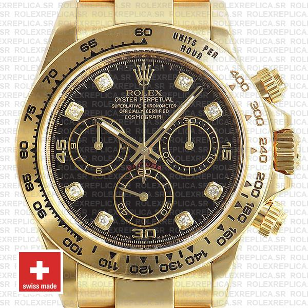 Rolex Oyster Perpetual Cosmograph Daytona 40mm 18k Yellow Gold Watch