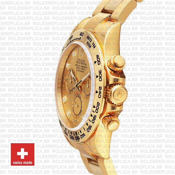 Rolex Daytona Diamond Gold Dial 18k Yellow Gold Replica