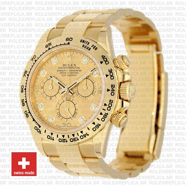Rolex Cosmograph Daytona 40mm 18k Yellow Gold 904L Stainless Steel