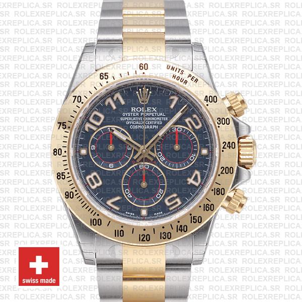Rolex Daytona Two-Tone Blue Arabic Dial | Yellow Gold Replica