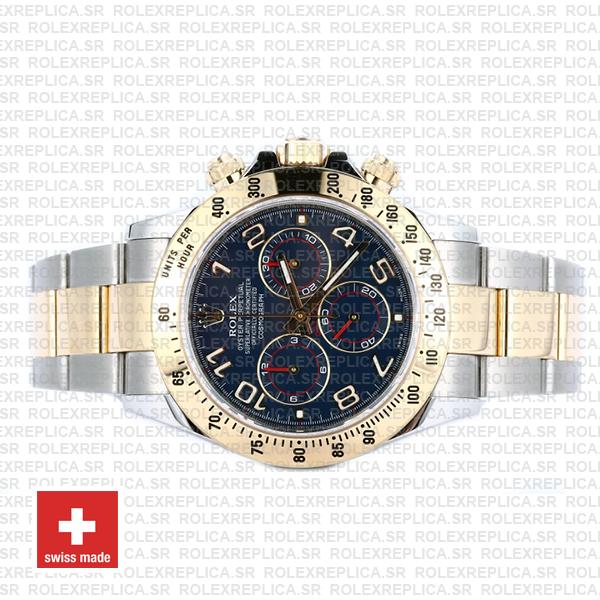 Rolex Daytona 2 Tone Blue Arabic 40mm 116523