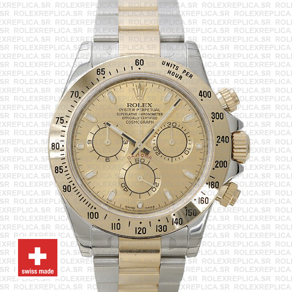Rolex Daytona Gold Two-Tone Gold Dial   Rolex Replica Watch
