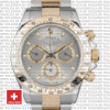 Rolex Daytona 2 Tone Grey Slate 40mm 116523