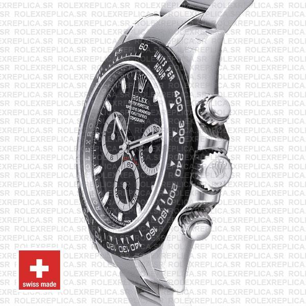 Rolex Daytona Black Dial 2016 Ceramic Bezel 40mm Replica Watch