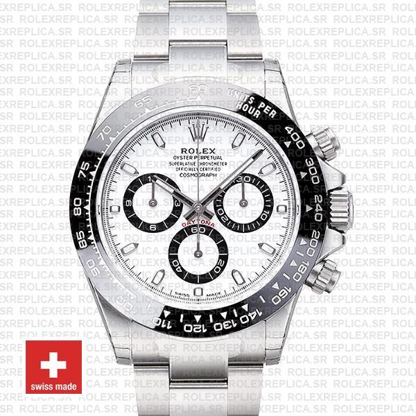 Rolex Daytona Stainless Steel White Dial | Replica Watch