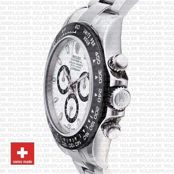Rolex Daytona Stainless Steel White Dial Replica Watch