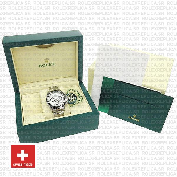 Rolex Daytona Stainless Steel White Dial 40mm with Subdials, Ceramic Bezel with 904L Steel