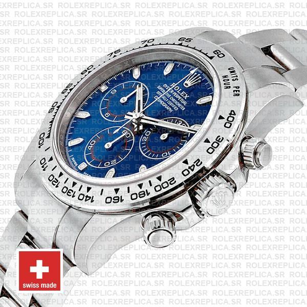 Rolex Daytona 2016 White Gold Blue 116503 40mm Replica