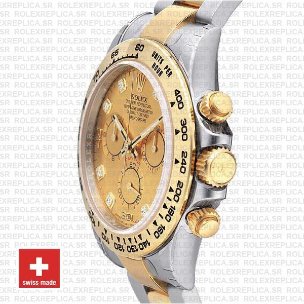 Rolex Daytona Gold Two-Tone Diamond Dial Swiss Replica Watch