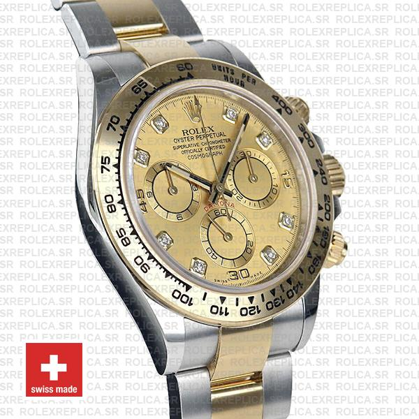 Swiss Replica Rolex Cosmograph Daytona 18k Yellow Gold Two-Tone
