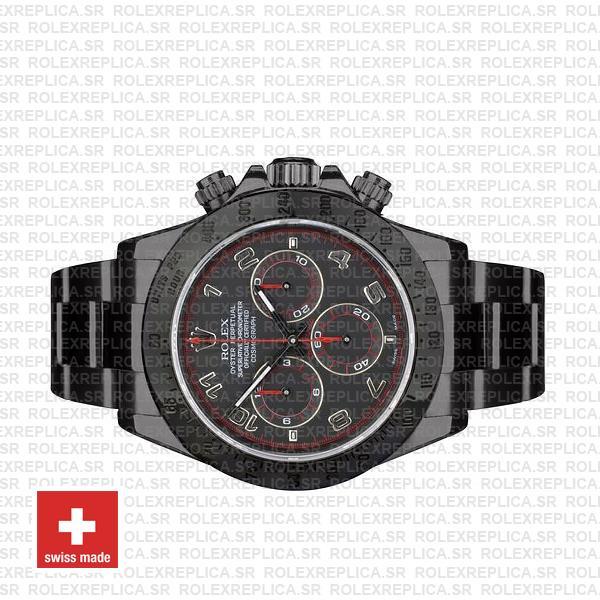 Rolex Daytona DLC Black Arabic Lumen Dial Rolex Replica Watch