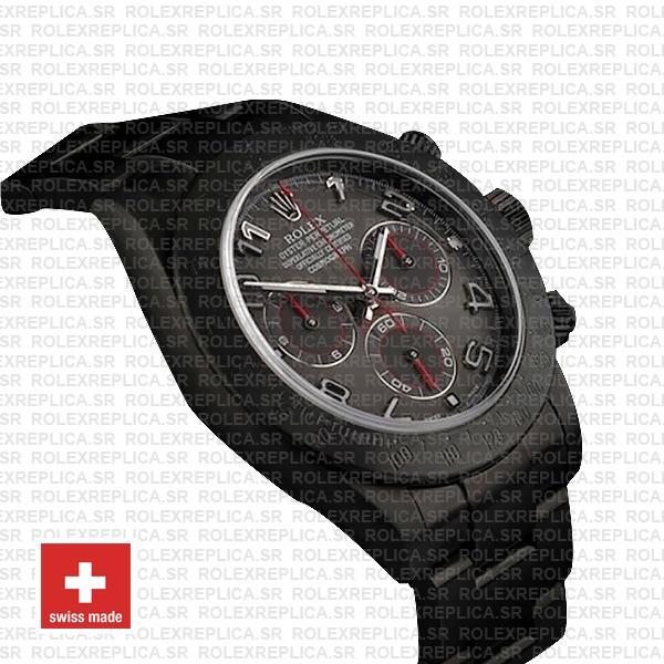 Rolex Daytona DLC 904L Steel Black Arabic Dial with luminous Markers DLC Coated Oyster Bracelet