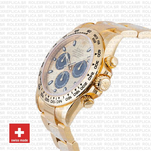 Rolex Daytona Gold Dial 18k Yellow Gold Stainless Steel Swiss Replica Watch