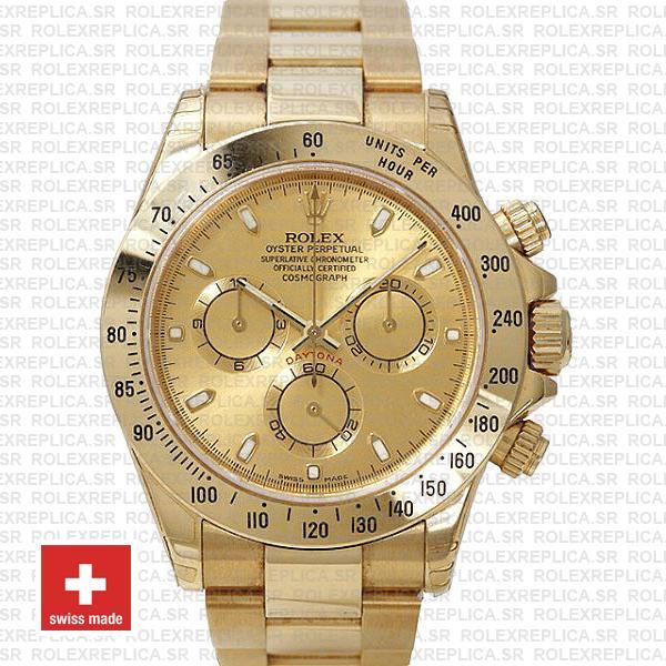 Rolex Daytona Stainless Steel Yellow Gold Dial | Replica Watch