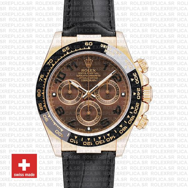 Rolex Daytona Rose Gold Brown Dial Watch   Rolex Replica
