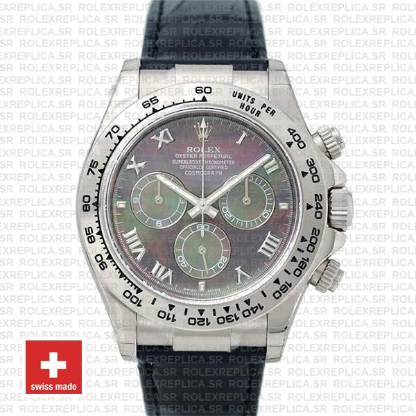 Rolex Daytona Black MOP Roman Dial Watch | Rolex Replica