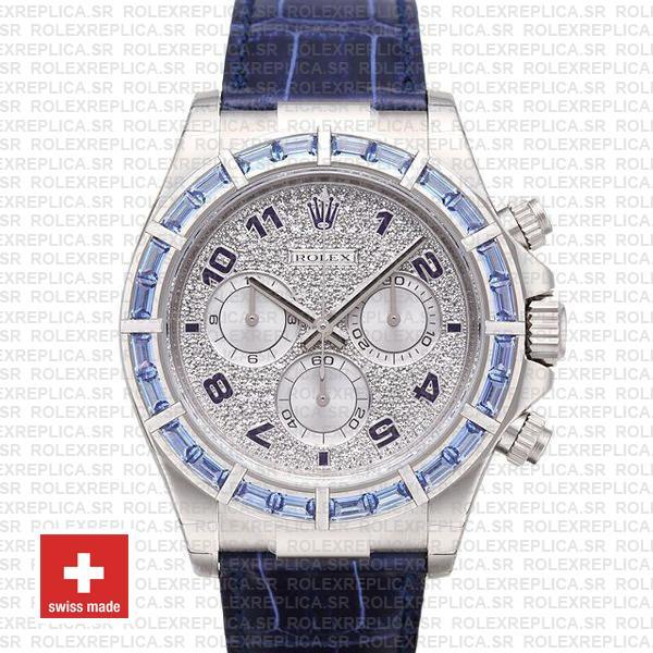 Rolex Daytona White Gold Blue Diamond Dial | Rolex Replica