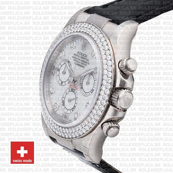 Rolex Daytona White MOP Diamond Bezel Dial Rolex Replica Watch