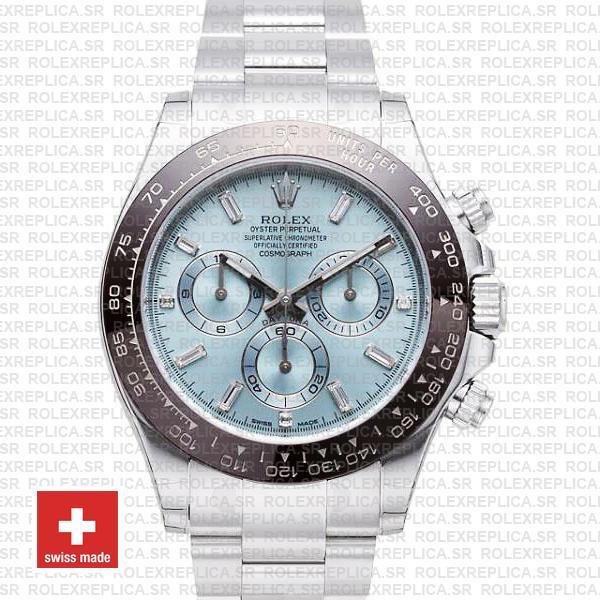Rolex Daytona 40mm Platinum Ice Blue Dial | Replica Watch