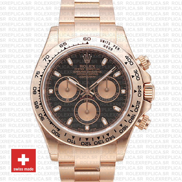 Rolex Daytona Rose Gold Black 40mm 116505