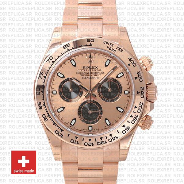 Rolex Daytona 904L Steel Rose Gold Dial | Rolex Replica Watch