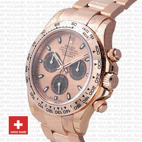 Rolex Daytona 904L Steel Rose Gold Dial Rolex Replica Watch