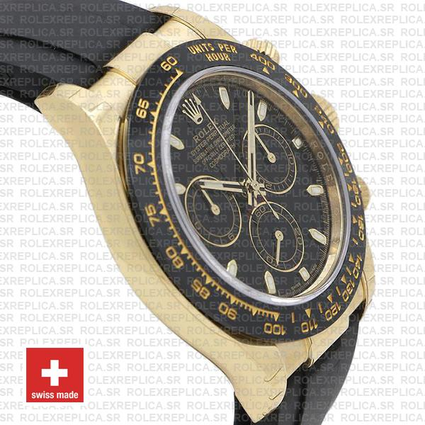 Rolex Oyster Perpetual Cosmograph Daytona 18k Yellow Gold Black Dial 40mm