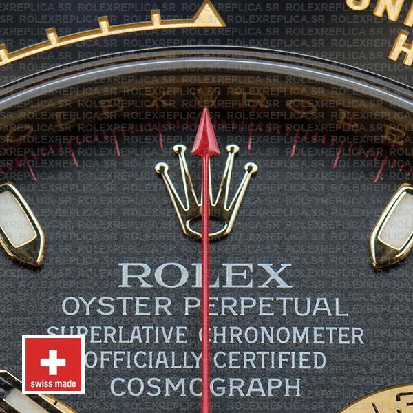 Rolex Daytona Gold Black Panda Dial Ceramic Bezel Rolex Replica Watch