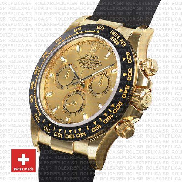 Rolex Oyster Perpetual Cosmograph Daytona Gold Dial 18k Yellow Gold