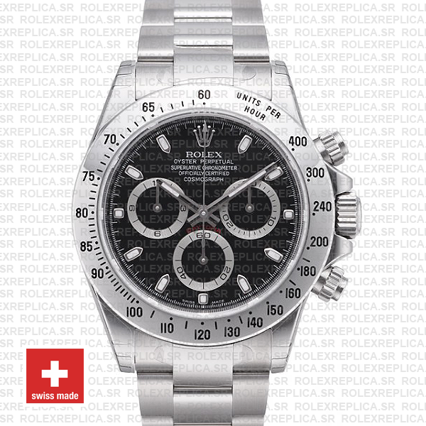 Rolex Daytona 18k White Gold Black Dial | Rolex Replica Watch