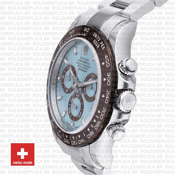 Rolex Daytona Platinum Ice Blue Dial 40mm Rolex Replica