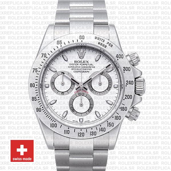 Rolex Daytona White Dial Stainless Steel | Swiss Replica Watch