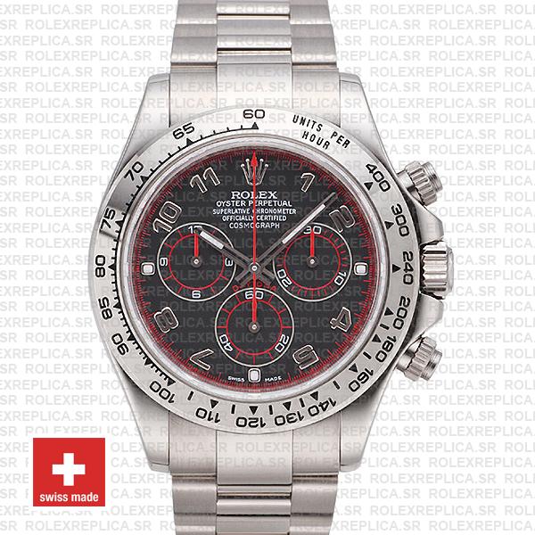 Rolex Daytona Stainless Steel | Black Arabic Dial Replica Watch