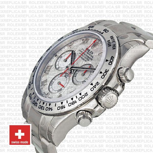 Rolex Daytona White Gold Meteorite Dial Rolex Replica Watch