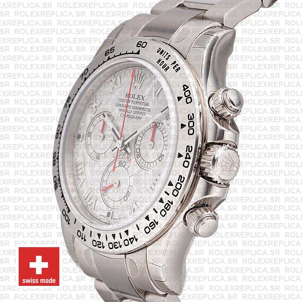 Rolex 116509 Cosmograph Daytona 18k White Gold Stainless Steel Replica Watch
