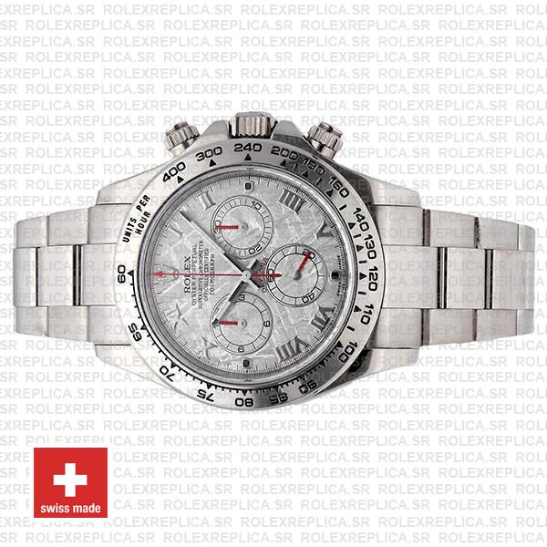 Rolex Daytona Ss White Gold Meteorite 40mm 116509