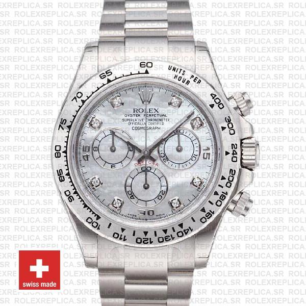 Rolex Daytona White Gold Diamond Dial | Rolex Replica Watch