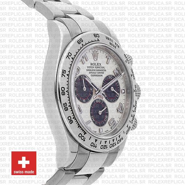 Rolex Daytona Ss White Gold White Arabic 2005 40mm 116509