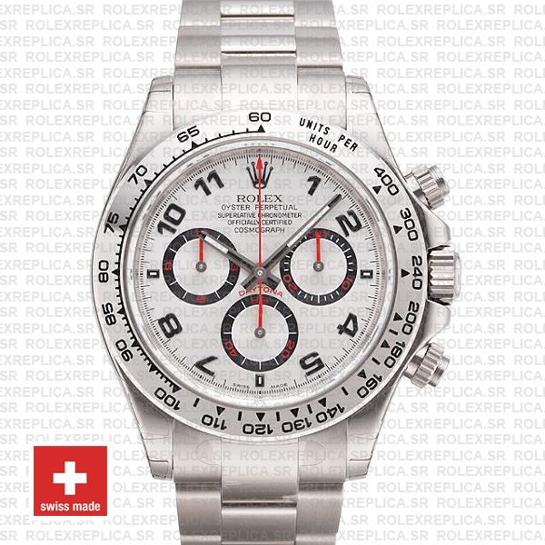 Rolex Daytona White Gold Arabic Dial 40mm | Replica Watch