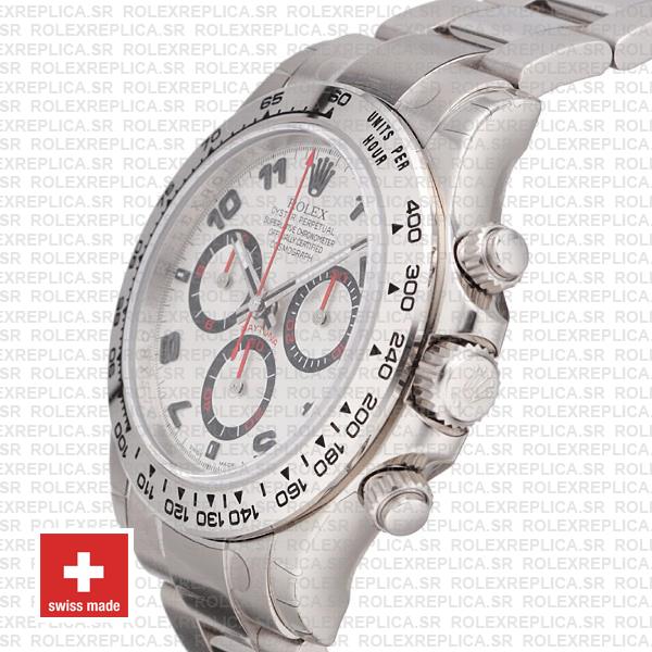 Rolex Daytona White Gold Arabic Dial 40mm Replica Watch