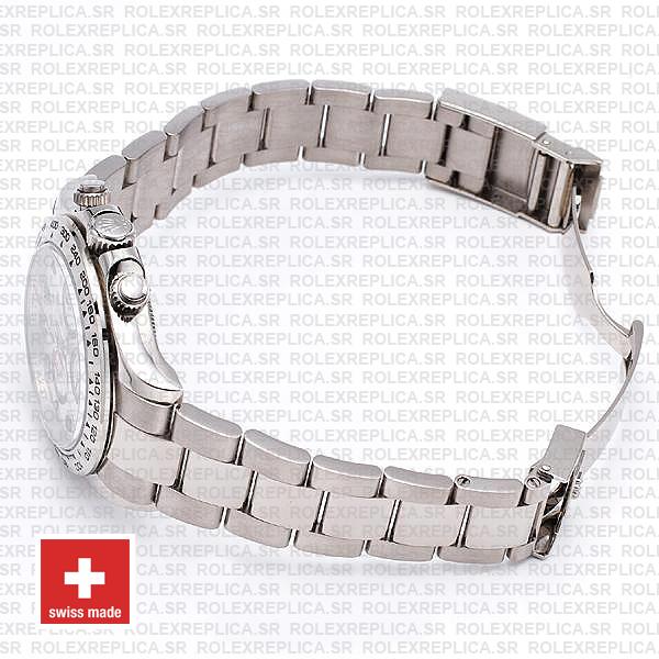 Rolex Daytona White Gold Arabic Dial 40mm Swiss Replica Watch