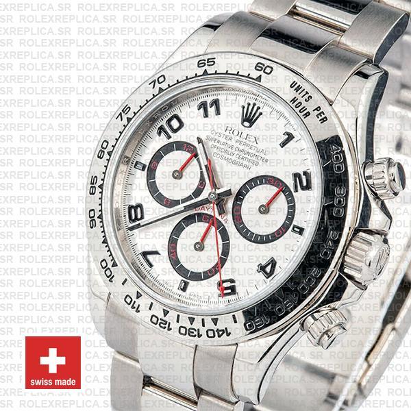 Rolex Daytona Ss White Gold White Arabic 2008 40mm 116509