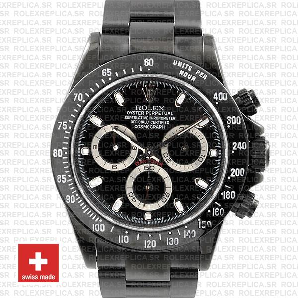 Rolex Daytona Swiss Replica 116520 Black Dlc